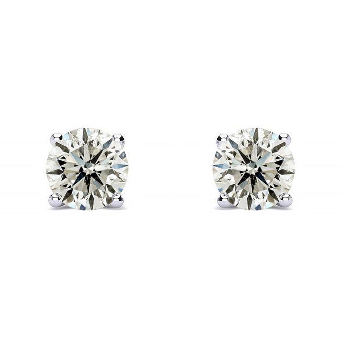 f15878072 1/2ct Diamond Stud Earrings in 14k White Gold | SuperJeweler.com