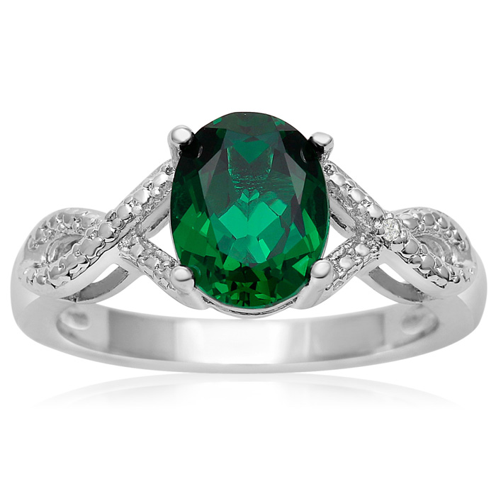 a2dfbda4d Emerald Ring | May Birthstone | 3/4ct Emerald and Diamond Ring ...