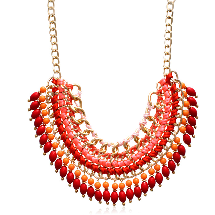 Infrared Chain Statement Necklace, 16 Inch Chain by Passiana