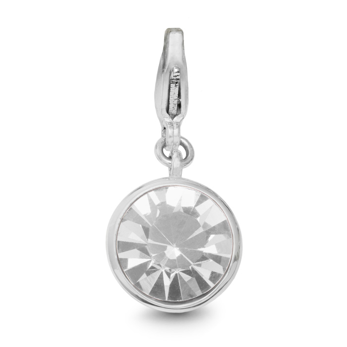 Pearl Crystal Birthstone, For June Babies-White