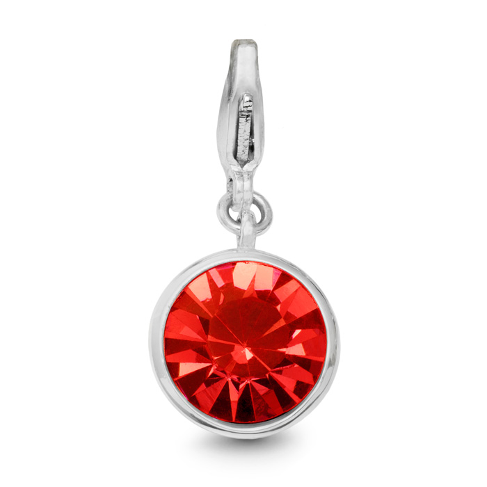 Ruby Crystal Birthstone, For July Babies-White