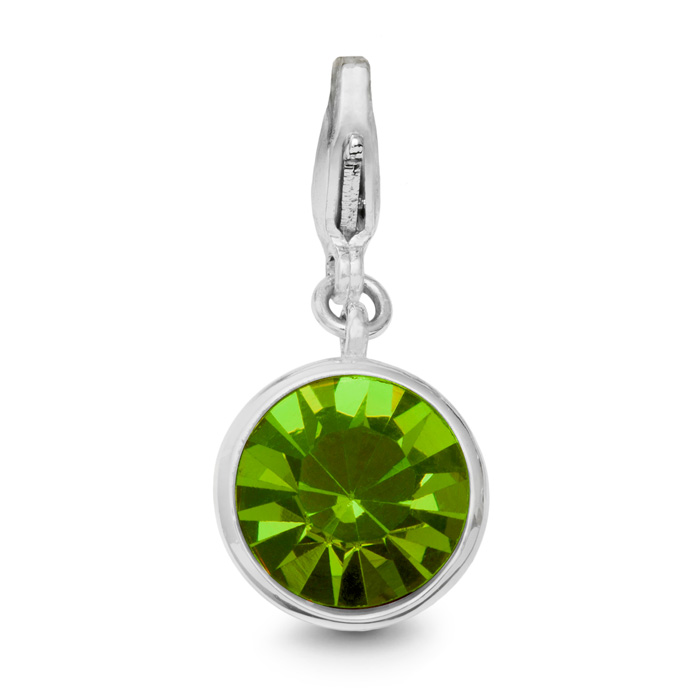 Image of Peridot Crystal Birthstone, For August Babies-White