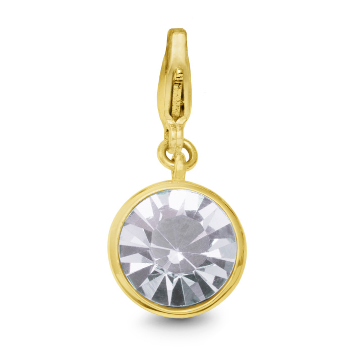 Image of White Crystal Birthstone, For April Babies-Yellow