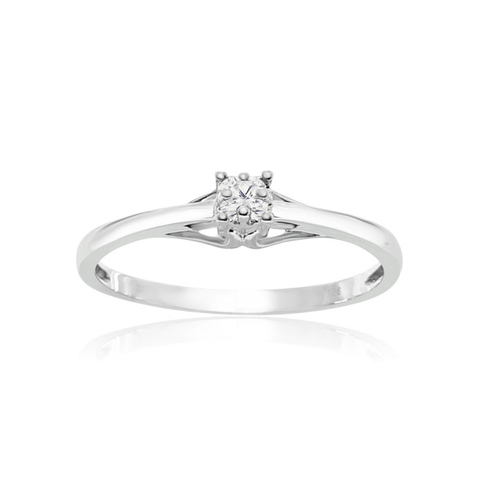 Image of Sterling Silver .05ct Diamond Promise Ring