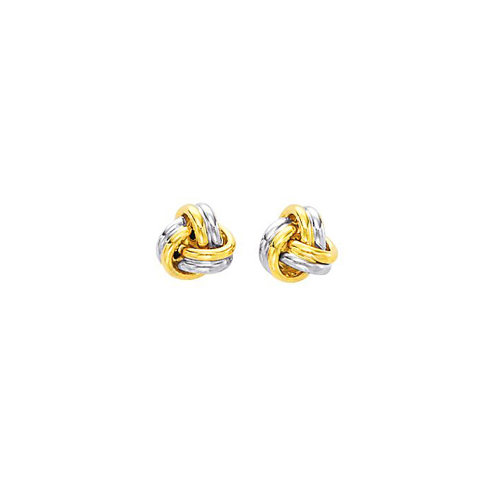 14K Two-Tone Yellow & White Gold (2.8 g) Polish Finished 9mm Love