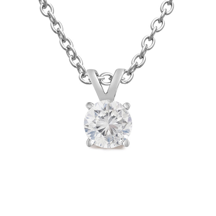 solitaire cut cfm kwiat necklace stud classic diamond round necklaces pendants and jewelers king detail