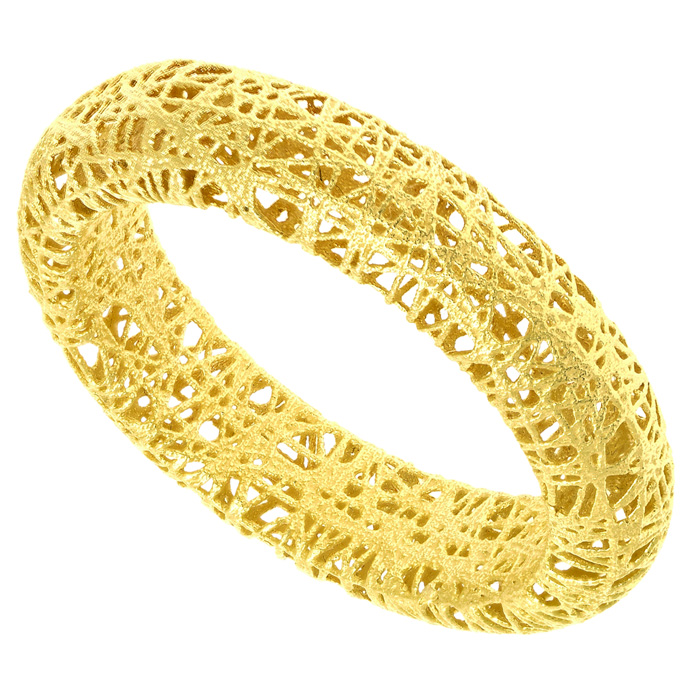 14k Yellow Gold (1.8 g) 5mm Mesh Ring by SuperJeweler