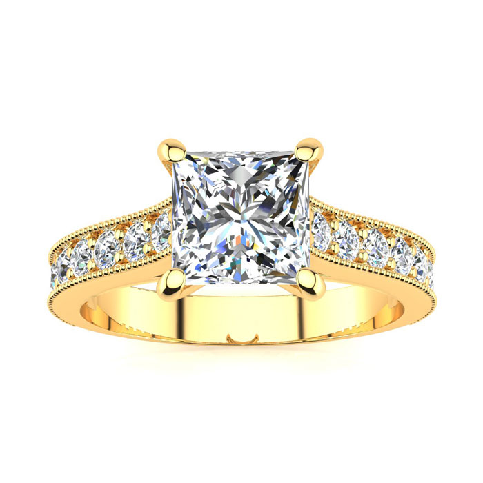 1.50 Carat Solitaire Engagement Ring With 1