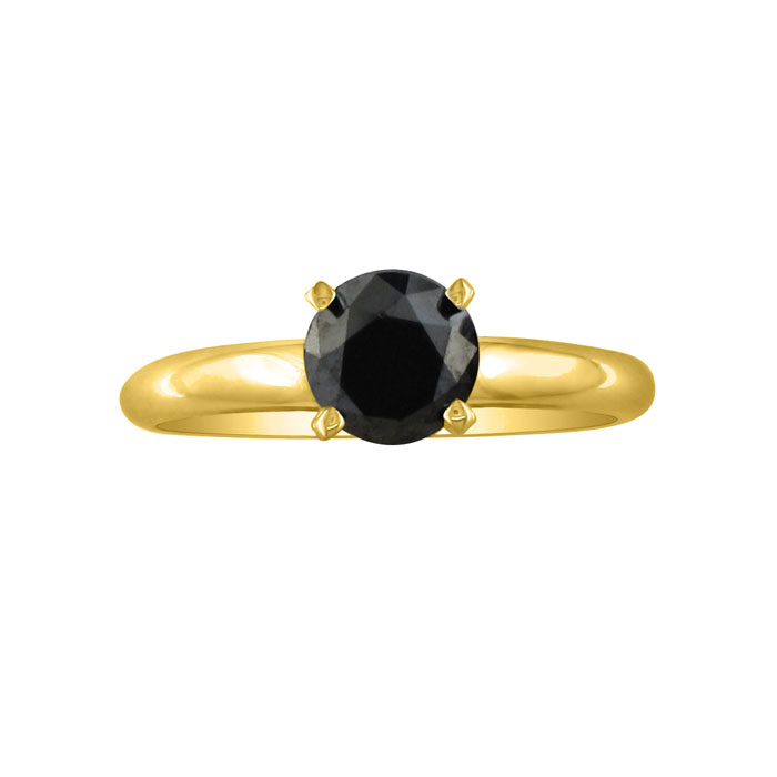 Solitaire Ring Yellow Gold by SuperJeweler