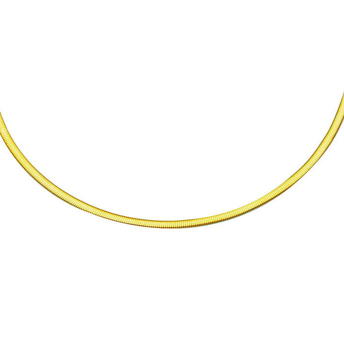 14K Yellow & White Gold (8.6 g) 2.5mm 16 Inch Two-Tone Reversible