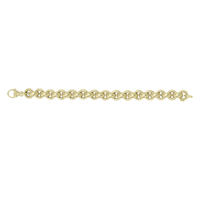 14K Yellow Gold (18.2 g) 12.3mm 8.25 Inch Round Rolo Type Chain B