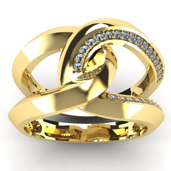 1/4 Carat Diamond Wedding Band in 14K Yellow Gold (7.5 g), I/J by