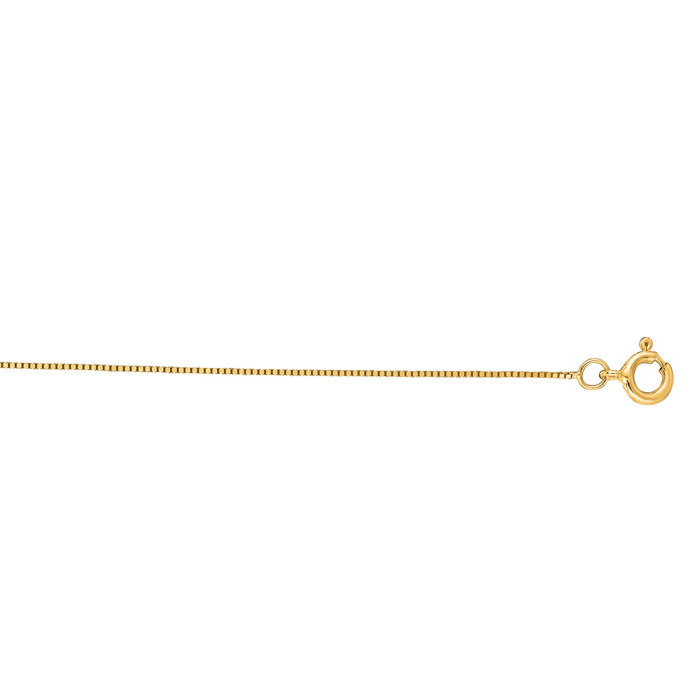 14K Yellow Gold (1.2 g) 0.45mm 20 Inch Classic Box Chain Necklace