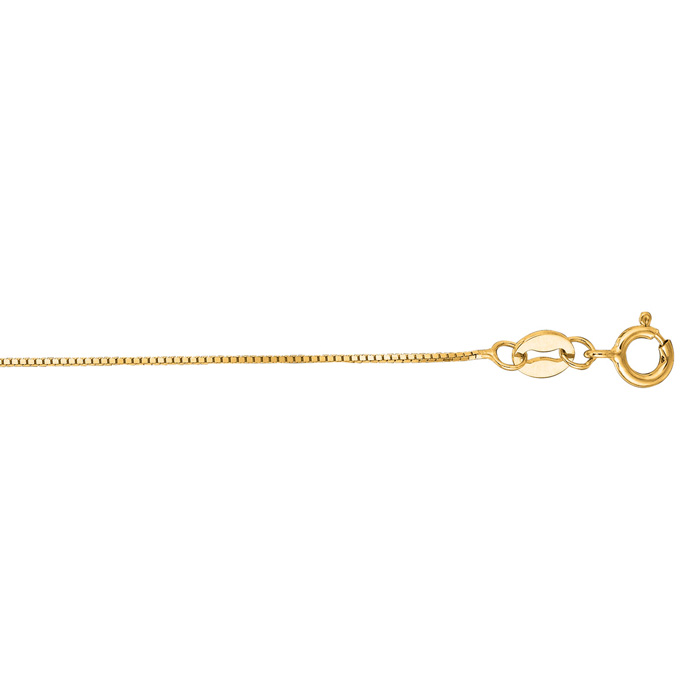 14K Yellow Gold (1.2 g) 0.6mm 16 Inch Classic Box Chain Necklace