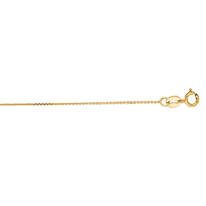 14K Yellow Gold (0.8 g) 0.50mm 16 Inch Cable Link Chain Necklace by SuperJeweler