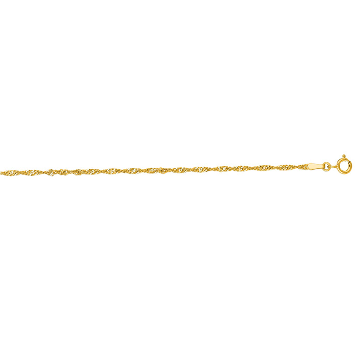 14K Yellow Gold (2.6 g) 1.7mm 20 Inch Singapore Chain Necklace by SuperJeweler