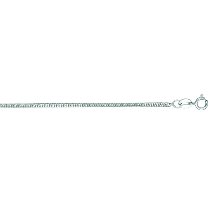 14K White Gold (2.6 g) 1.0mm 16 Inch Foxtail Chain Necklace by Su