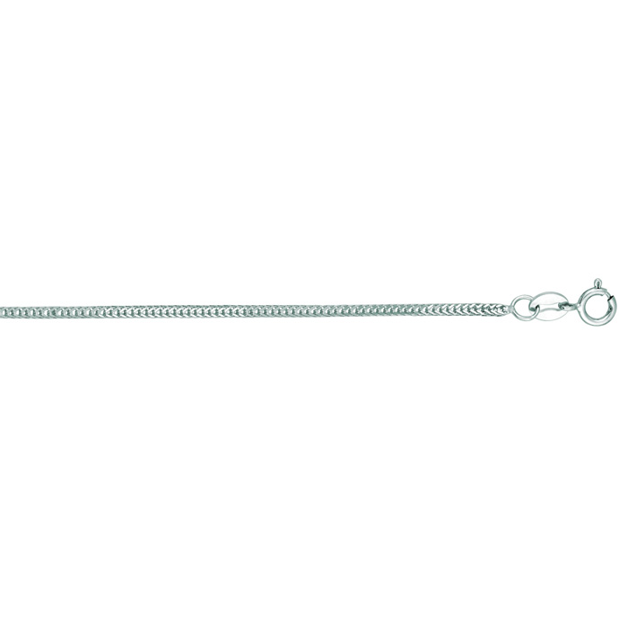 14K White Gold (3.2 g) 1.0mm 20 Inch Foxtail Chain Necklace by Su