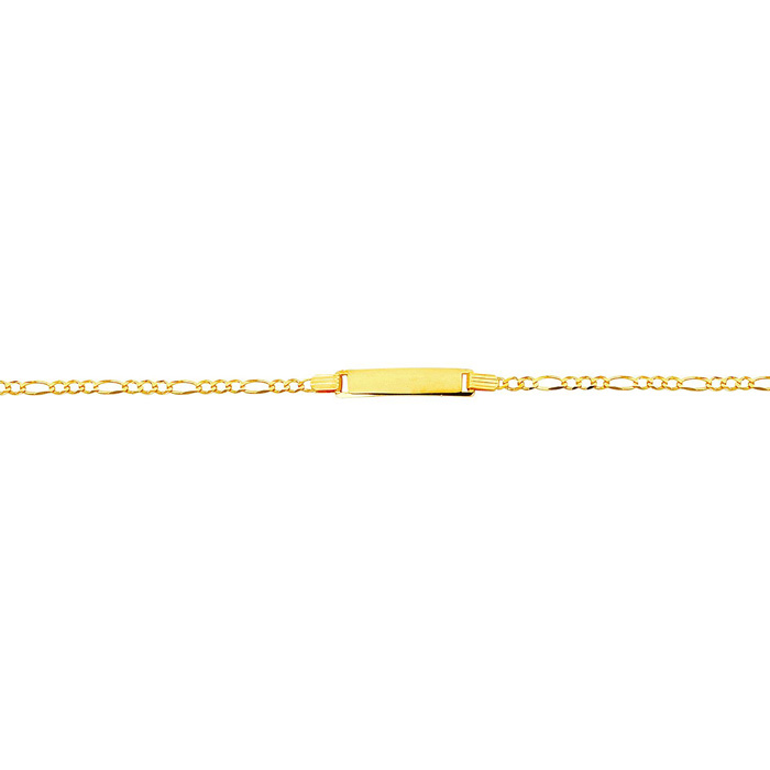 14K Yellow Gold (2.6 g) 6 Inch Childrens Shiny Classic Figaro ID