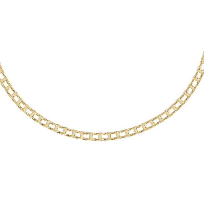 14K Yellow Gold (13.3 g) 5.0mm 20 Inch Shiny Railroad Style Mens