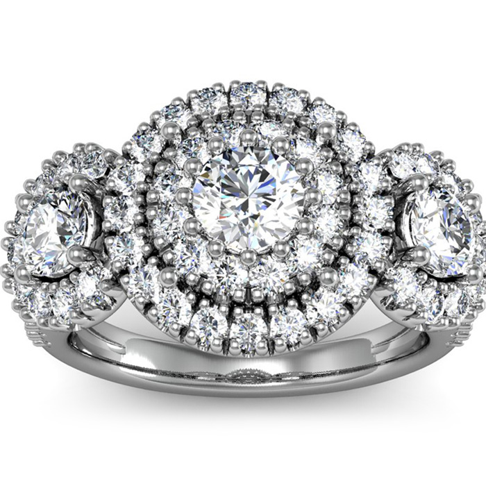La Gigante 2 Carat Engagement Ring in White Gold (9.2 g)