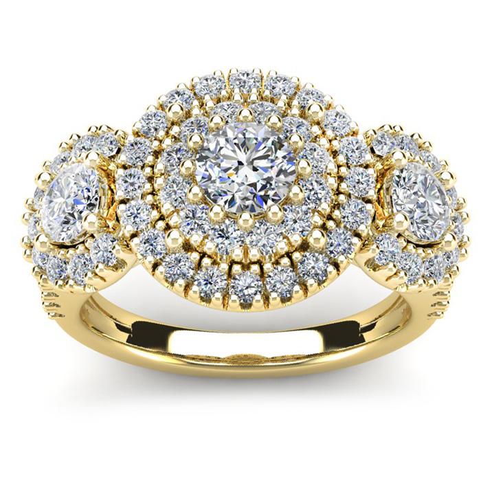 La Gigante 2 Carat Engagement Ring in Yellow Gold (9.2 g)