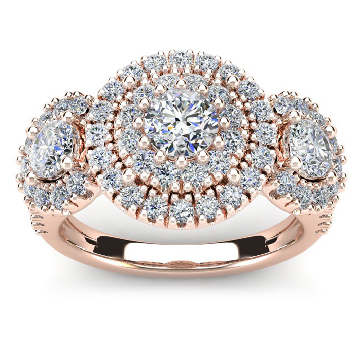 La Gigante 2 Carat Engagement Ring in Rose Gold (9.2 g)