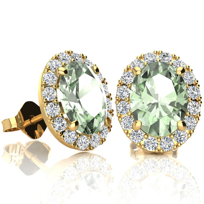 2.40 Carat Oval Shape Green Amethyst and