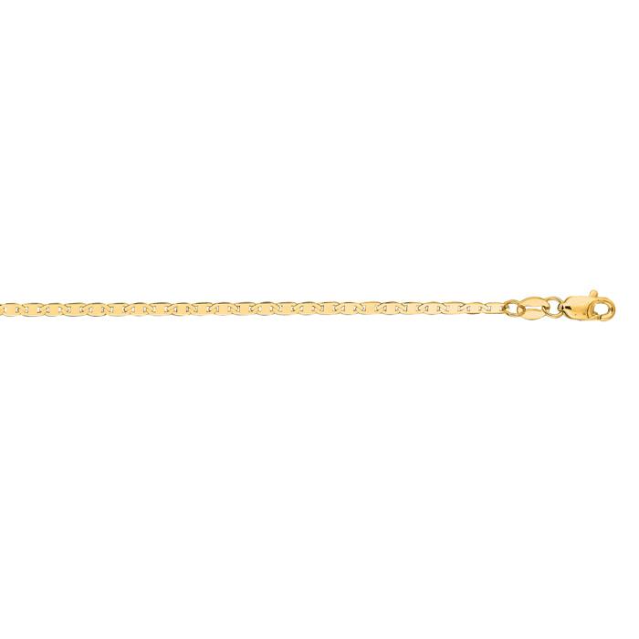 14K Yellow Gold (1.7 g) 1.7mm 10 Inch Diamond Cut Mariner Link Ch