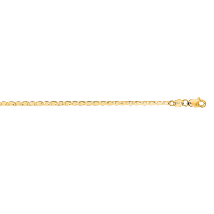 14K Yellow Gold (2.7 g) 1.7mm 24 Inch Diamond Cut Mariner Link Ch