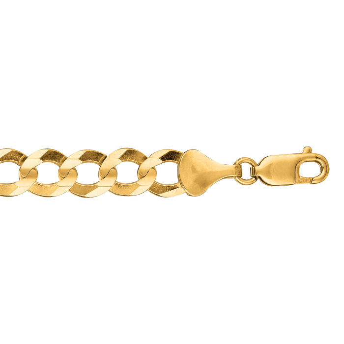 14K Yellow Gold (13.5 g) 8.20mm 8.5 Inch Comfort Curb Chain Bracelet by SuperJeweler