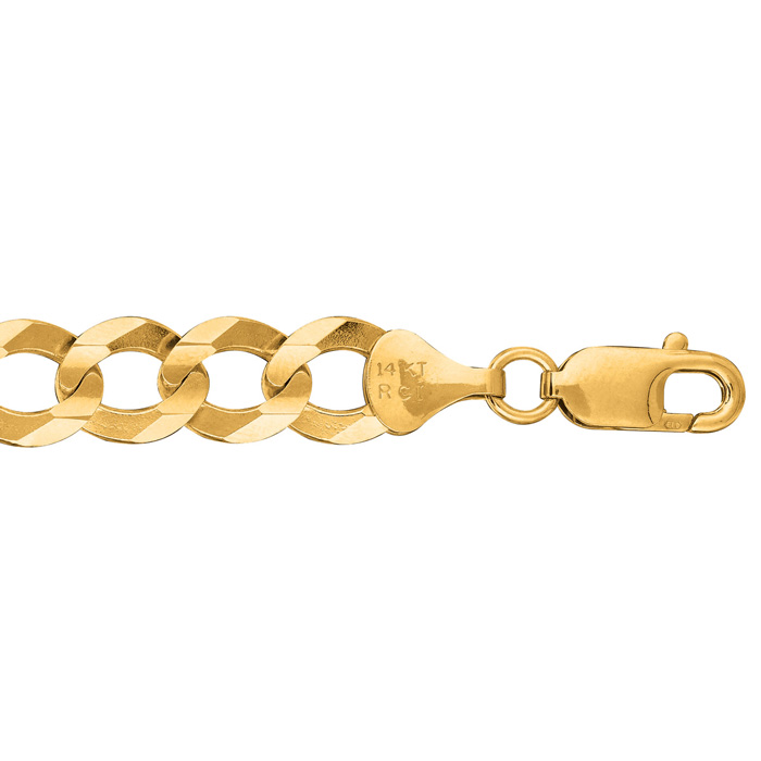 14K Yellow Gold (2.6 g) 10.0mm 8.5 Inch Comfort Curb Chain Bracel