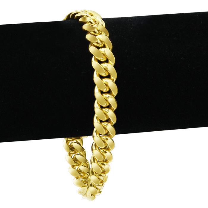 14K Yellow Gold (2.6 g) 5.40mm 8.5 Inch Light Miami Cuban Chain Bracelet by SuperJeweler