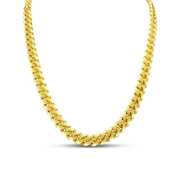 14K Yellow Gold (34 g) 5.0mm 22 Inch Miami Cuban Chain Necklace b