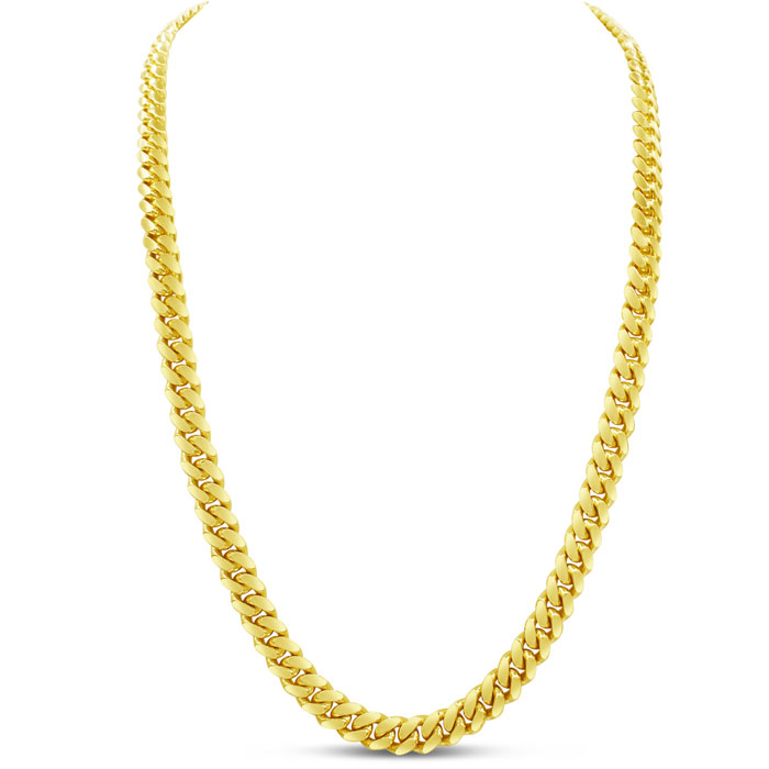 14K Yellow Gold (90.9 g) 6.70mm 30 Inch Miami Cuban Chain Necklac