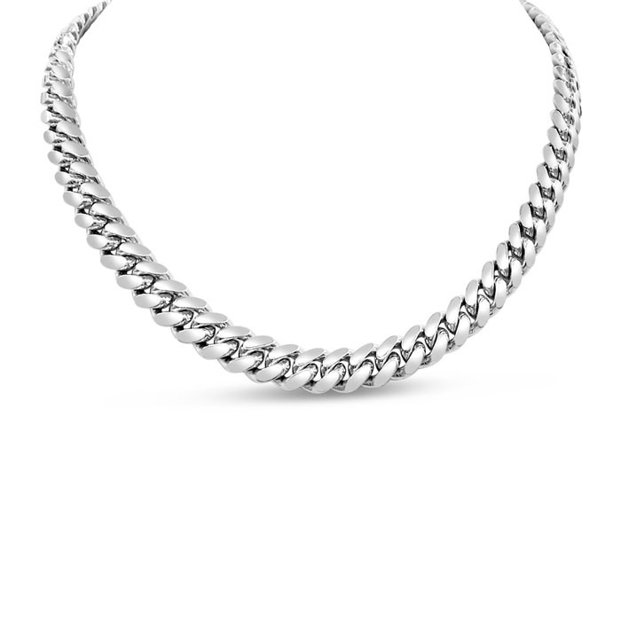 14K White Gold (31 g) 5.0mm 20 Inch Miami Cuban Chain Necklace by