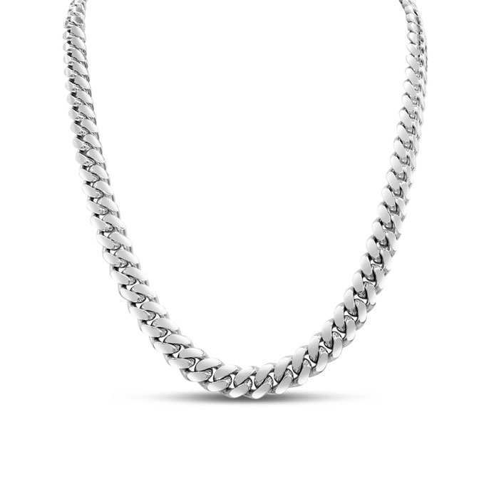 14K White Gold (34 g) 5.0mm 22 Inch Miami Cuban Chain Necklace by