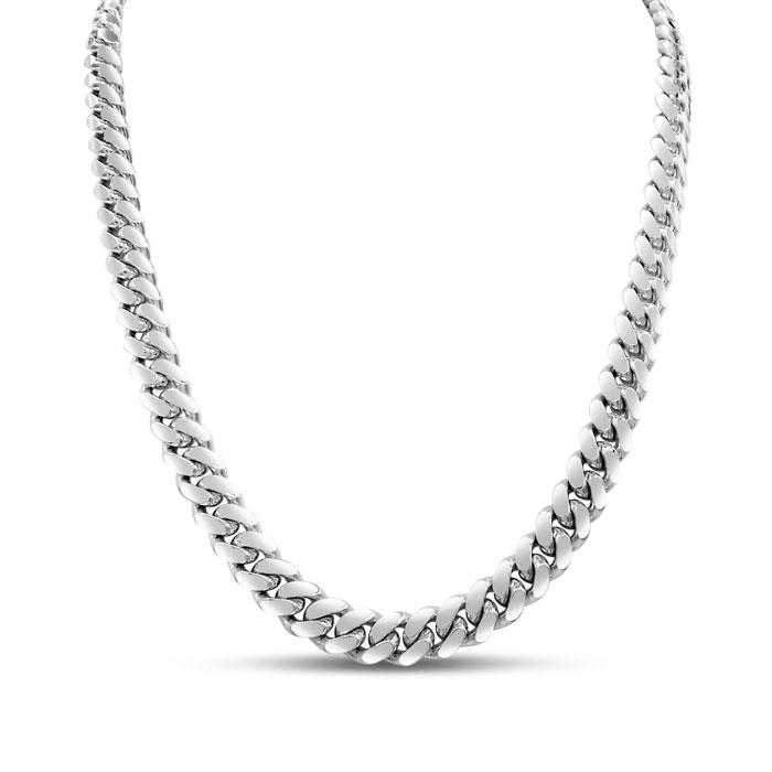 14K White Gold (37 g) 5.0mm 24 Inch Miami Cuban Chain Necklace by
