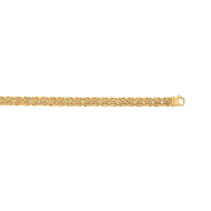 14K Yellow Gold (7.5 g) 7.20mm 8 Inch Shiny Byzantine Chain Brace