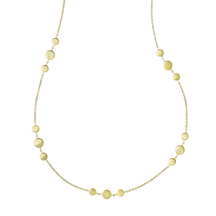 14K Yellow Gold (6.8 g) 1.15mm 17 Inch Shiny & Satin Finish Pebble Chain Necklace by SuperJeweler