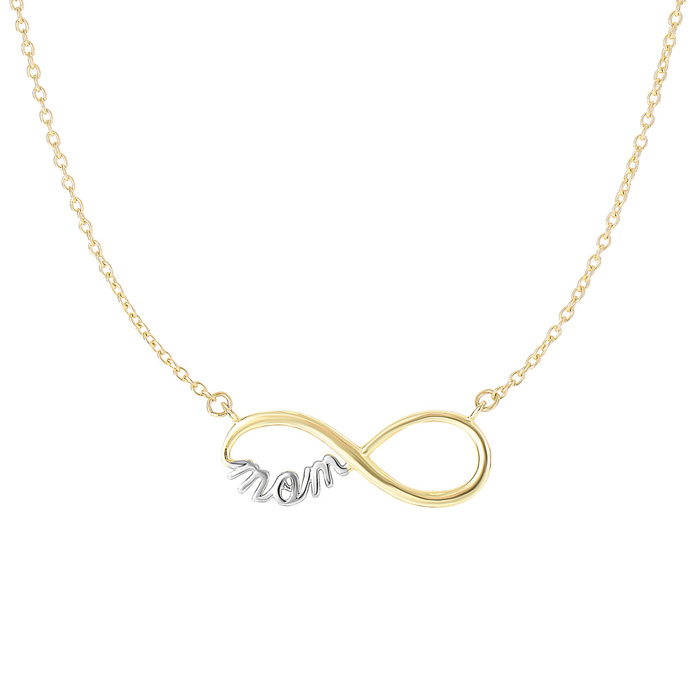 Infinity Mom Chain Necklace in 14K Yellow Gold (2.4 g), 17 Inches