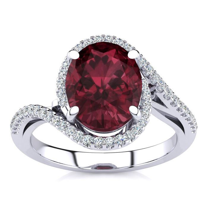 3 1/3 Carat Oval Shape Garnet and