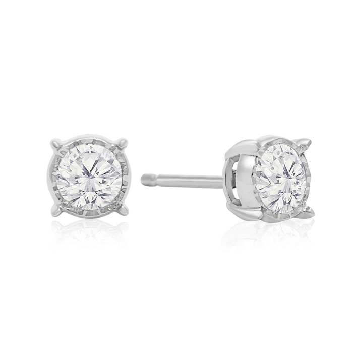 carat childrens cubic gold earrings in for solitaire stud kids karat