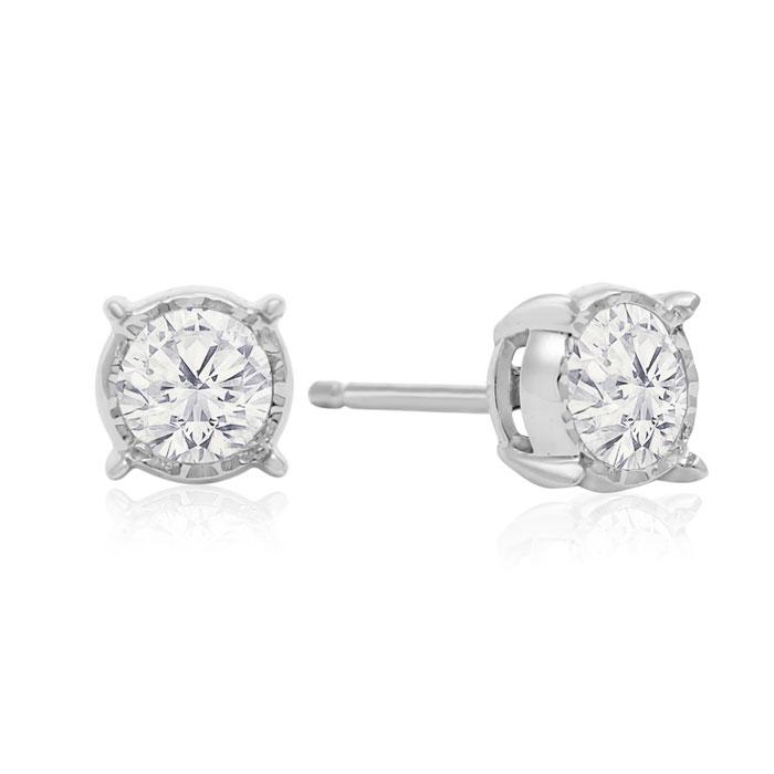 1 Carat Diamond Miracle Stud Earrings In