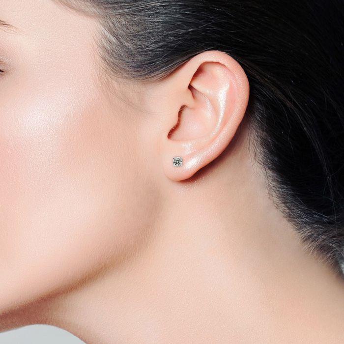 1/2ct Diamond Stud Earrings in 14k White Gold   SuperJeweler com