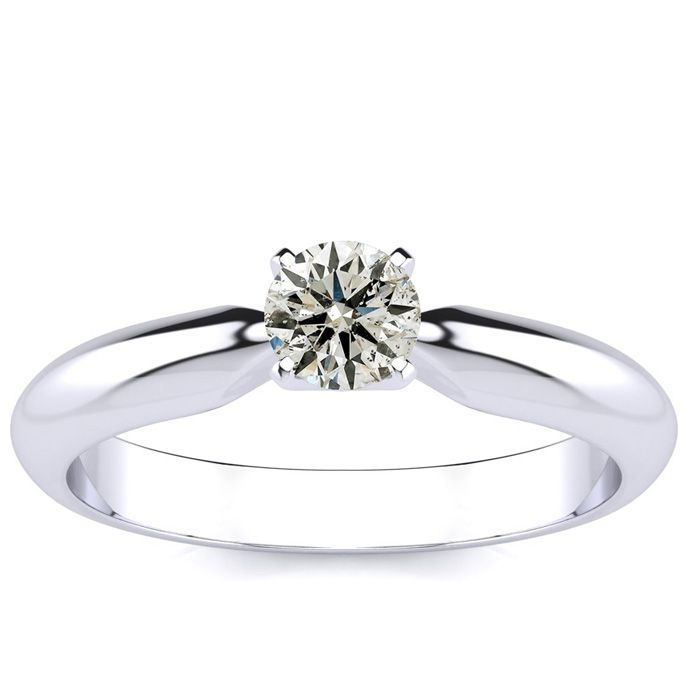 14ct Diamond Engagement Ring in 10k White Gold INCREDIBLE VALUE