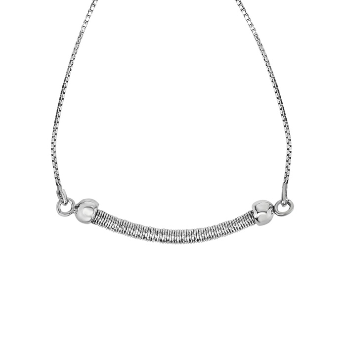 Sterling Silver Adjustable Bead Bracelet, 7 Inch by SuperJeweler