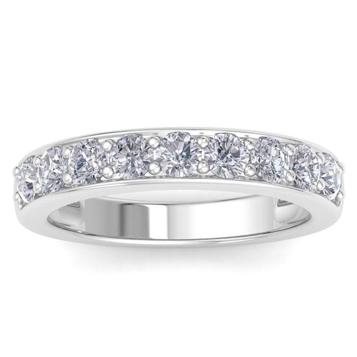 1 Carat Diamond Wedding Band in 14k White Gold, I/J by SuperJeweler