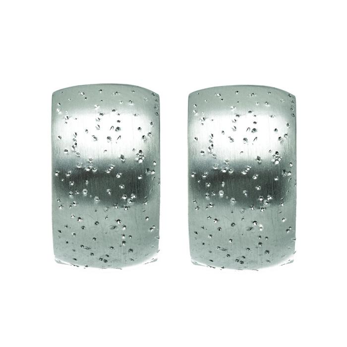 Sterling Silver Stardust Petite Hoop Earrings by SuperJeweler