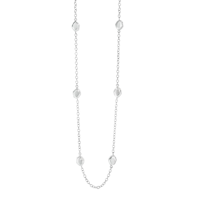 Sterling Silver Delicate Stardust Bead Necklace, 32 Inches by Sup